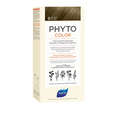 Image PHYTOCOLOR 8 BLOND CLAIR COLORATION PERMANENTE