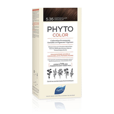 Image PHYTOCOLOR 5,35 CHÂTAIN CLAIR CHOCOLAT coloration permanente
