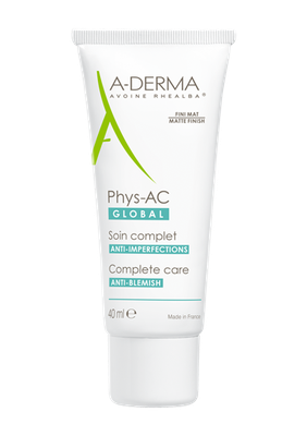 Image ADERMA PHYS-AC GLOBAL Gel crème soin imperfection 40ml